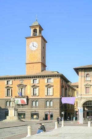 reggio emilia: REGGIO EMILIA, ITALY - October 06.2011: Ancient fountain of the river Crostolo on an area Piazza del Duomo in city Reggio Emilia