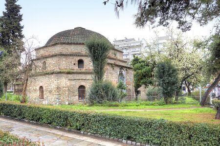 hamam: The old complex of Turkish baths Hamam Bay, Loutra Paradisos, Thessaloniki. Built in 1444 Stock Photo