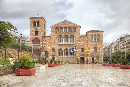Orthodox Church of Saint Demetrios was built on the site of the death of the Holy Great Martyr Demetrios Stock Photo