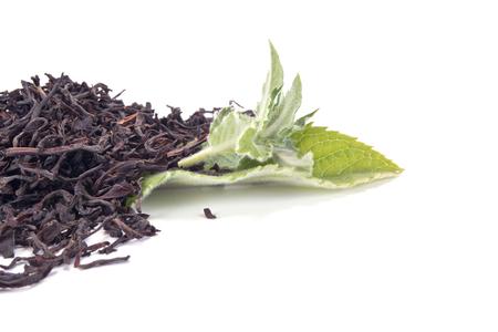 field mint: Black tea with the fresh mint leaves