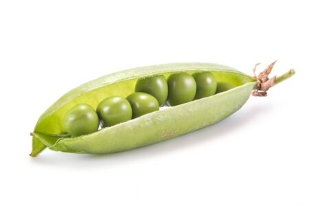 valuables: Plant peas are isolated on a white background