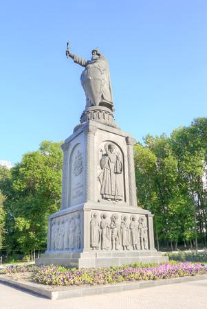 BELGOROD, RUSSIA - August 30.2016: Monument to the prince to Vladimir Sviatoslavich the Great of Kievan Rus