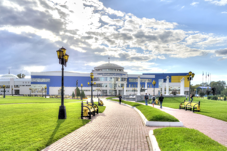 sports complex: BELGOROD, RUSSIA - August 31.2016: Training and Sports Complex S.Horkinoy. The structural unit of the Belgorod State University