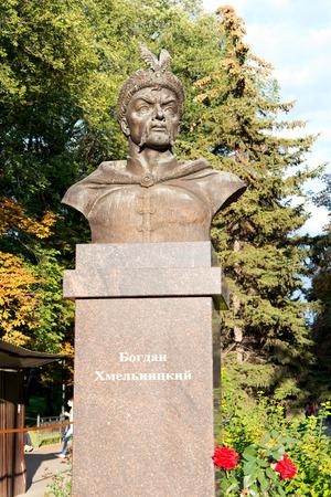 BELGOROD, RUSSIA - August 31.2016 : Sculpture of Hetman of army of the Zaporizhzhya, Russian war-lord and statesman Bohdan Khmelnytsky