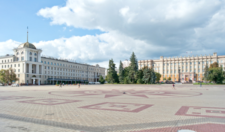 regional: BELGOROD, RUSSIA - August 31.2016: Building of regional administration and hotels Belgorod on the Cathedral square