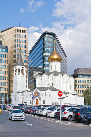 the believer: MOSCOW, RUSSIA - September 02.2016: Building Nikolsky Old Believer church outside Butyrsky shaft