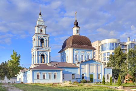 The territory of the Marfo-Mariinsky Convent. Pokrovsky Church Stock Photo