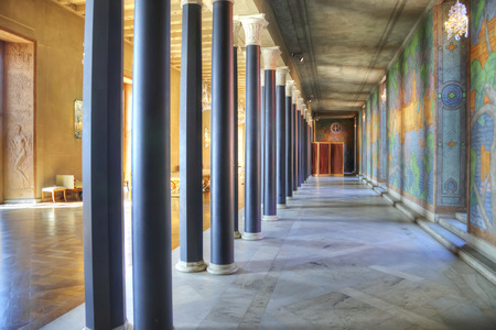 laureates: STOCKHOLM, SWEDEN - May 04.2013: Blue Hall, where honored the Nobel laureates