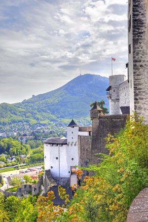 navigable: View on a city Salzburg from the castle of Hohensalzburg on mountain Festung Editorial