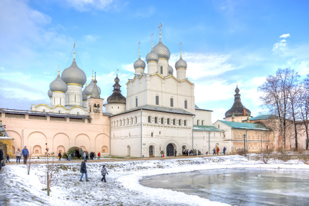 eldest: RUSSIA, ROSTOV - January 03.2015: Eldest city of Russia. Included in the Gold Ring of Russia. Kremlin is in city Rostov Editorial