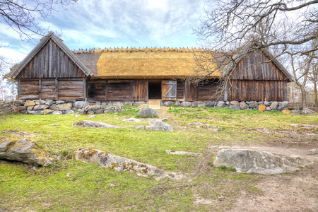 ethnographic: STOCKHOLM, SWEDEN - May 04.2013: Ethnographic complex the open air museum Skansen, located on Djurgarden Island in Stockholm. Barn Editorial