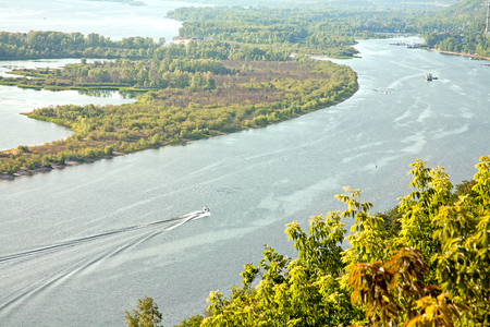 View of the river Volga not far from the city of Saratov