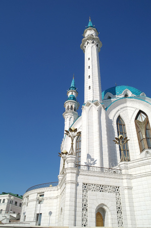 The territory of the Kazan Kremlin. Islamic shrine reconstructed QolÅŸarif Mosque
