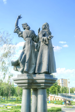 ORYOL, RUSSIA - May 15.2012: Sculptures of personages  of novels by Nikolai Leskov