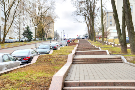 MINSK, BELORUSSIA - March 11.2017: Karl Marx Street. Modern street in the historic center of the city Editorial