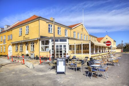Drager, Denmark - May 02.2013: The old village of Dragor, where it is forbidden to reconstruct the facades of houses