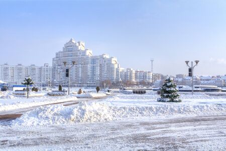 Park Starostinskaya Sloboda and residential areas of the city. Minsk