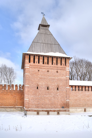 Kopytinskaya tower. Fortress wall and tower, part of the defensive works of the ancient city of Smolensk