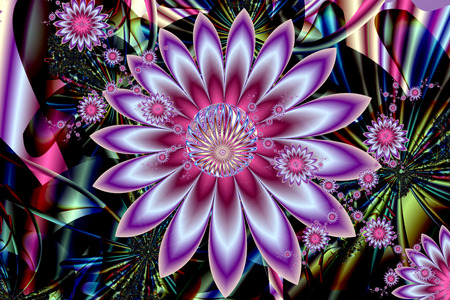 Abstract fractal pattern. A fascinating surrealistic ornament. Illustration