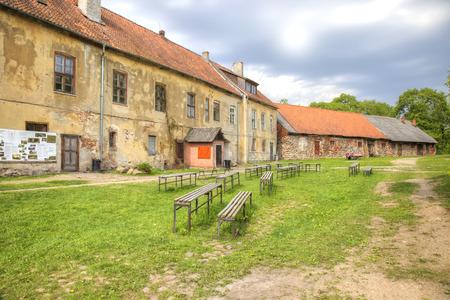 Restored farm buildings Castle Insterburg. Chernyakhovsk sity