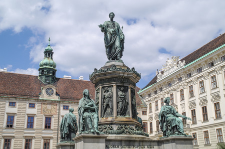 VIENNA, AUSTRIA - May 04.2011: The territory of the palace complex Hovburg. Monument to Emperor Franz I