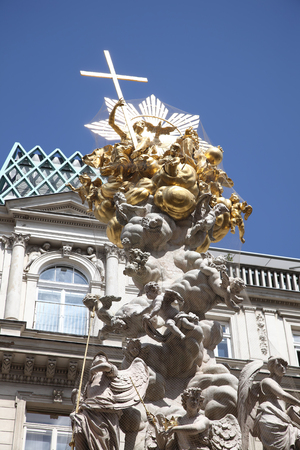 Plague column in the historic center of the city of Vienna. Erected in gratitude for the cessation of the plague of plague disease in 1693
