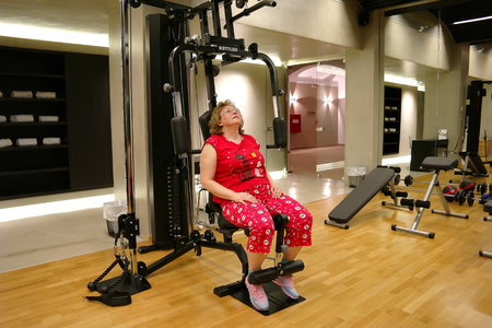 THESSALONIKI, GREECE � March 14.2016: Specially equipped room in a hotel for sports Redactioneel