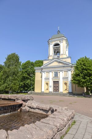 City Vyborg. The Cathedral of Saints Peter and Paul is the only preserved Lutheran church in the city. Built in 1799