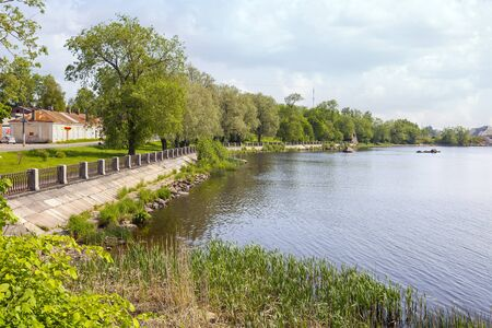 North Harbor, part of the Gulf of Finland in the city of Vyborg