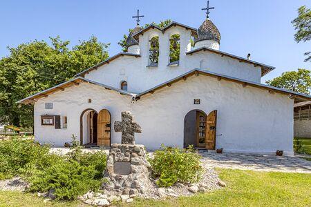Miasto Psków. Kościół Ochrony przy Prolomie XV - XVI wiek. Zabytek architektury chroniony przez państwo