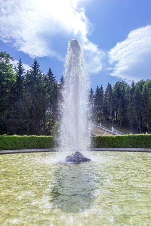 PETERHOF, RUSSIA - June 07.06: The territory of the Nizhniy Park. Fountain  Editöryel