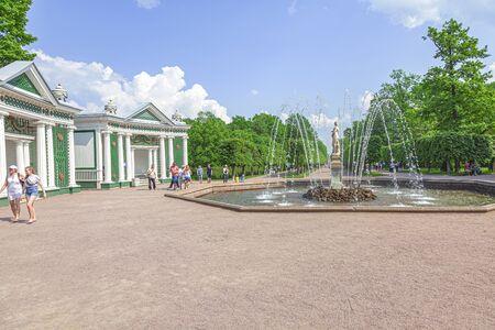 PETERHOF, RUSSIA - June 07.06: The territory of the Nizhniy Park. Eve Fountain