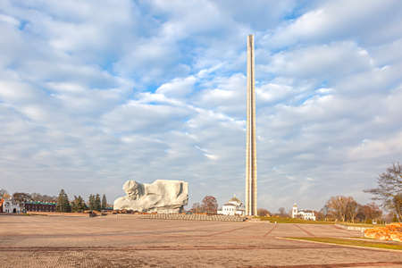 Brest, Republic of Belarus - March 10.2020: Citadel. Courage Monument in the Brest Fortress memorial complex