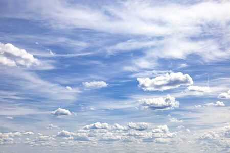 Heavenly landscape. Clouds in the sky