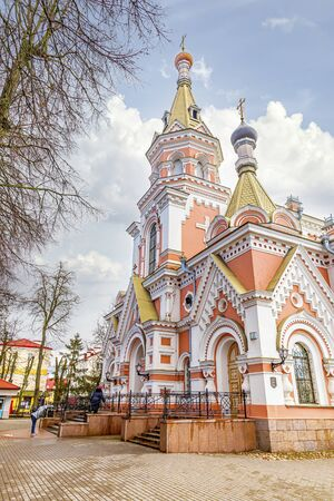 Orthodox Holy Intercession Cathedral in the city of Grodno. Republic of Belarus