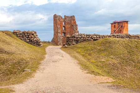 The ruins of the Navahrudak Castle. One of the key strongholds and the most powerful fortress in the Grand Duchy of Lithuania from the 13th to the 17th centuries. Republic of Belarus