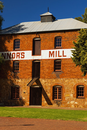 poser: Historic Connors Flour Mill in Toodyay, Western Australia.The Triple Storey Brick Building was Constructed in 1870, The Building Operated as a Steam Powered Flour Mill for 50 Years before being converted into a Poser House in the 1920