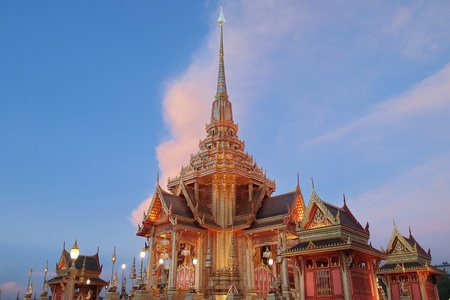 Royal Creamation Pyre  Temporary pyre built for HRH Princess Petcharat of Thailand state funeral