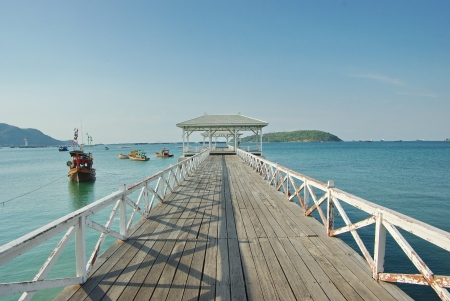 Asdang bridge, Thailand, in a bright sunny afternoon