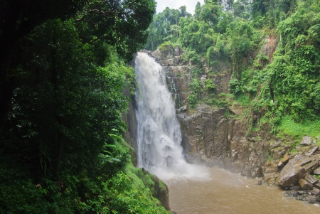 Waterfall in Thailand tropical rain forest Stock Photo