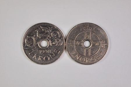 1 Norwegian krone coins