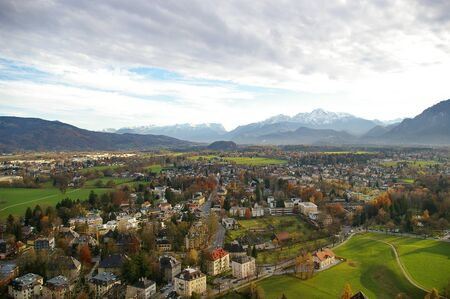 Cloudy day at Salzburg, Austria