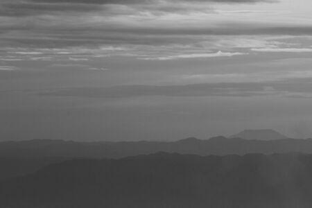 Mountain soft fog scenic sunrise morning at Phutabberk Reklamní fotografie