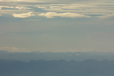 Mountain soft fog morning at Phutabberk, Shadow