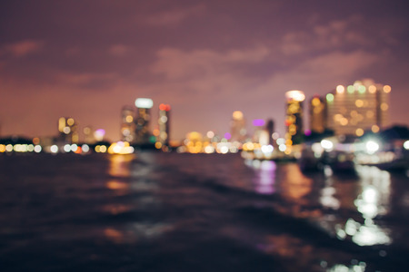 Abstract bokeh lights from  Asiatique the Riverfront, Blurred , thailand Reklamní fotografie