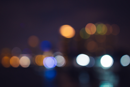 Night city abstract bokeh background.