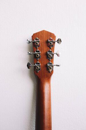 Acoustic guitars headstock Reklamní fotografie