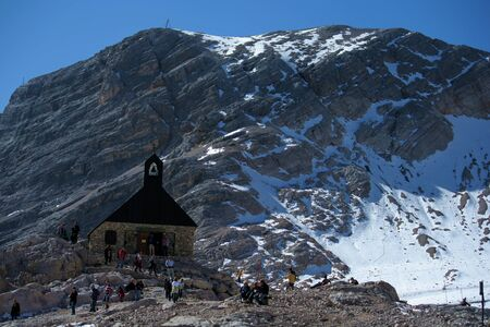 the church at  Zugspitze the Top of Germany