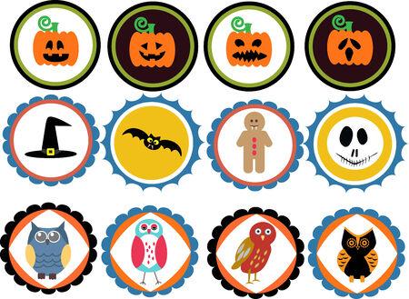 Halloween  Badges Vector