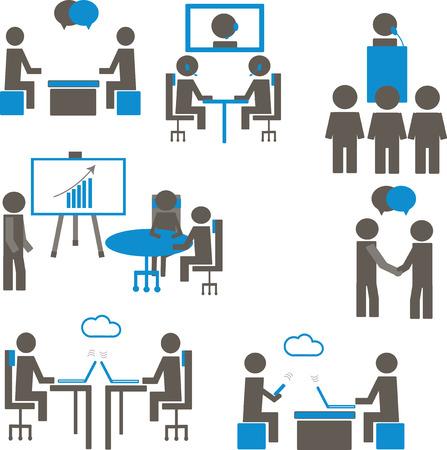 Les gens dans l'espace de travail Co Banque d'images - 32036140